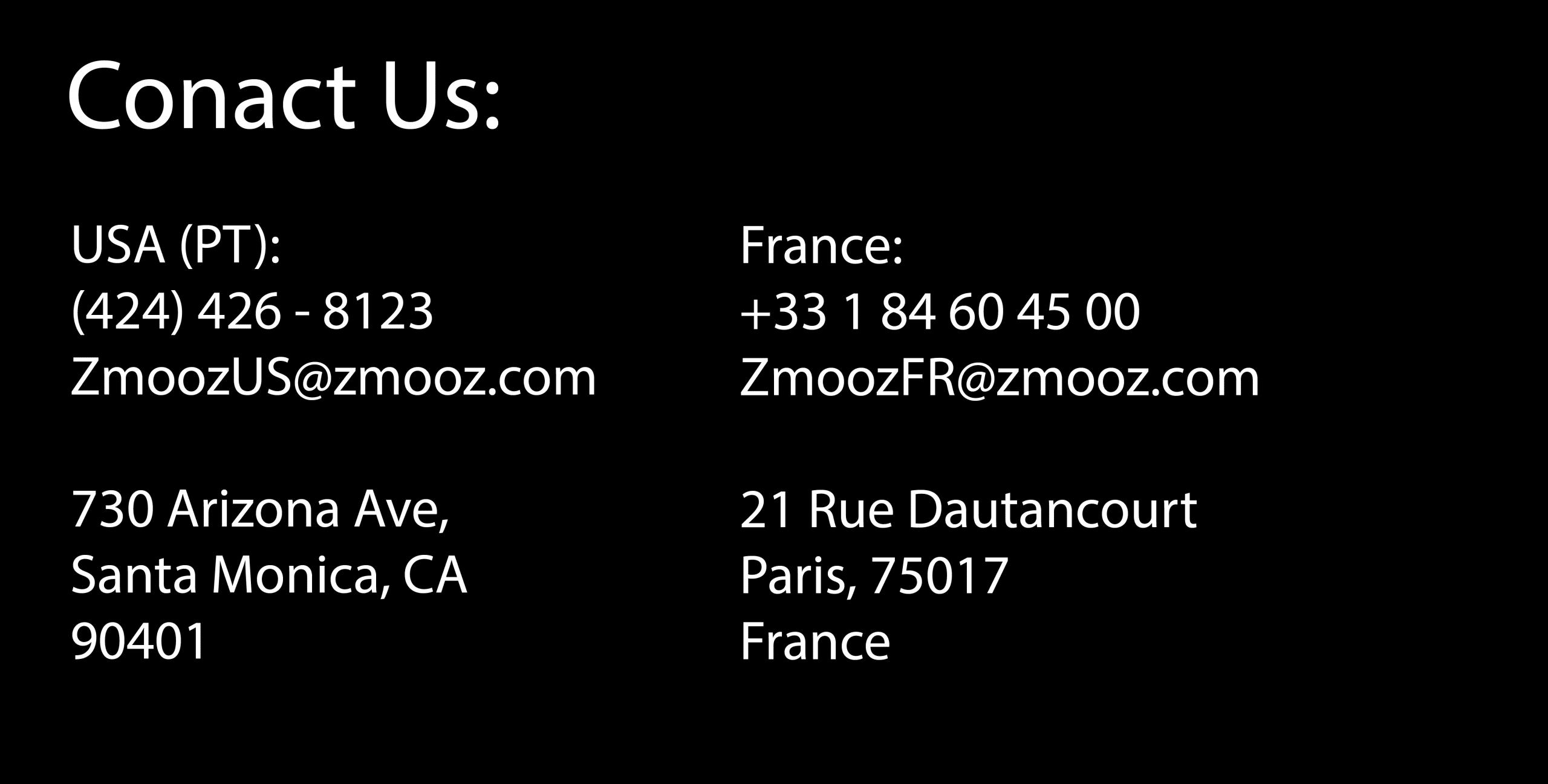 Contactez nous, Zmooz Stories : la sollution de production de Web Story automatique